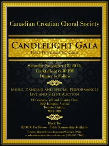 Canadian Croatian Choral Society Candlelight Gala - Nov 15, 2014